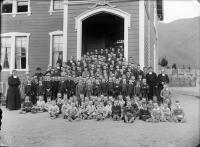 Stoke Orphanage, boys & staff, c.1892